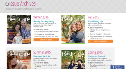Best in Care_Issue Archives